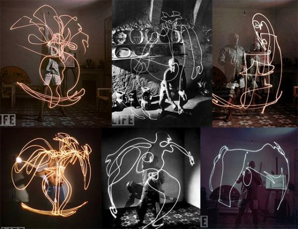 Pablo Picas light painting